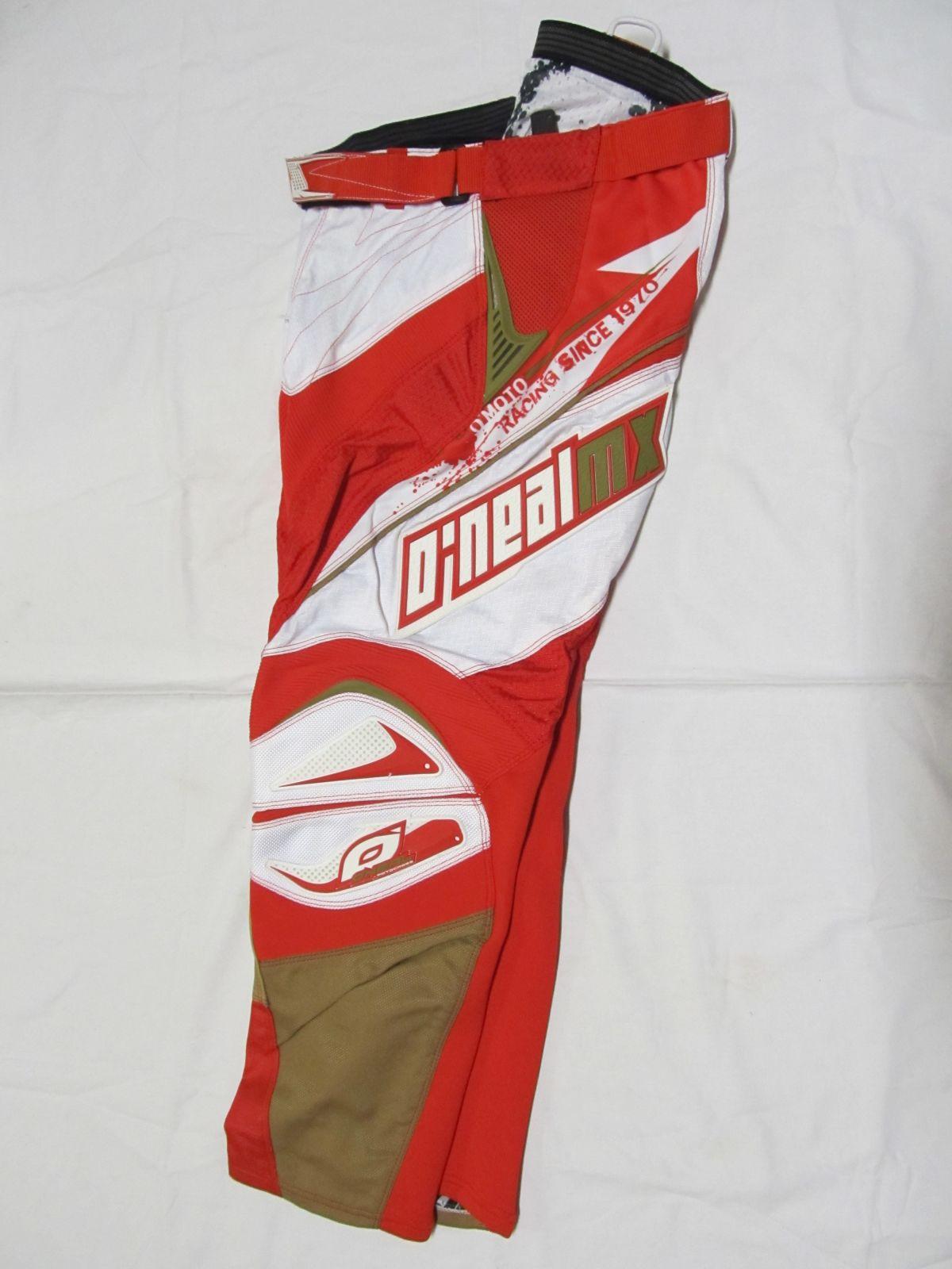 Kalhoty Hardwear-červená/bílá ONEAL