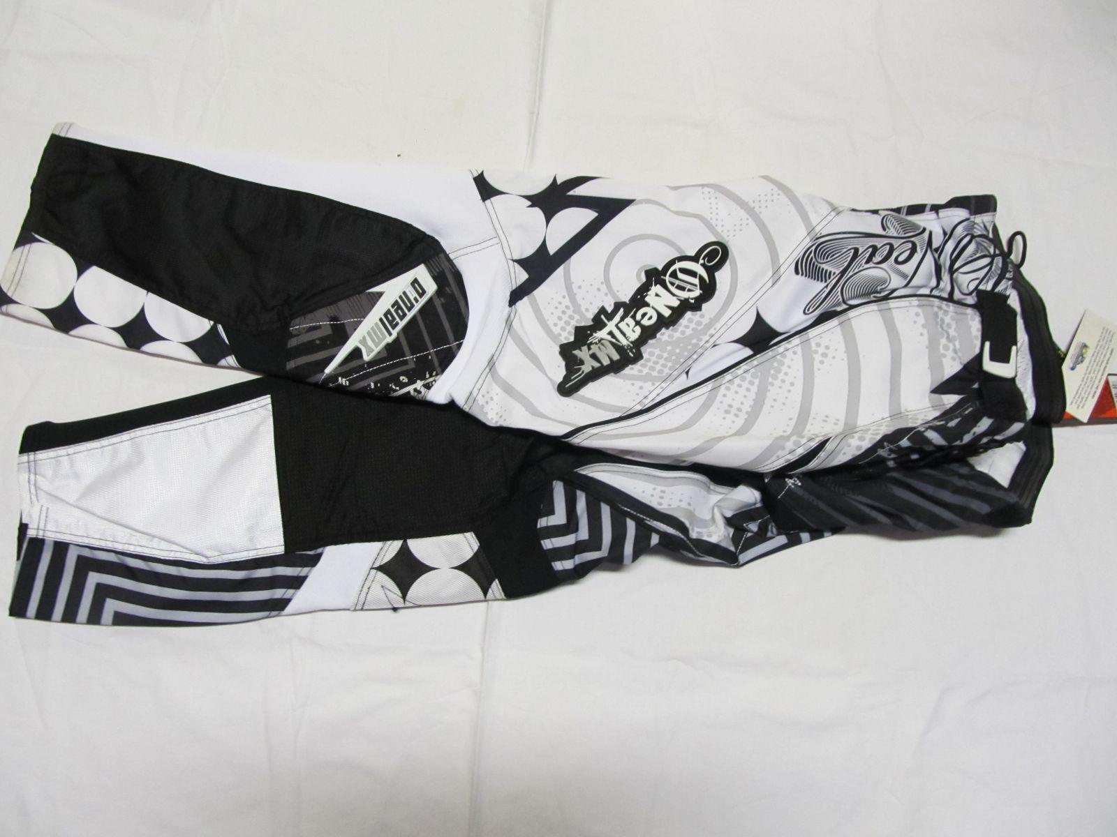 Kalhoty Mayhem -Bílá/černá ONEAL