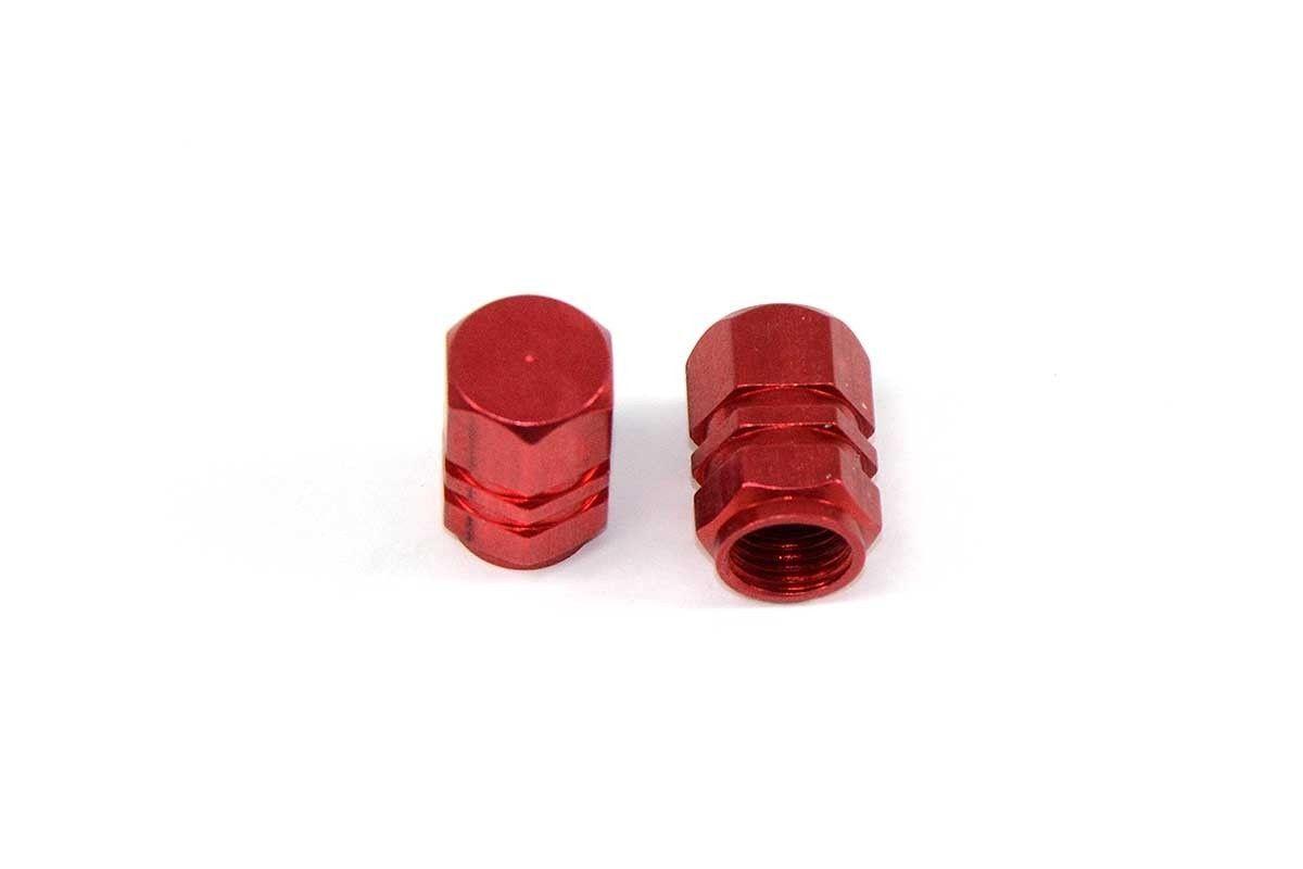 Tapones de válvula de neumático aluminio rojo REBEL MASTER