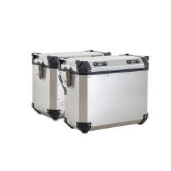 Boční kufry hliníkové o objemu 42L + 36L + boční nosiče pro 502X