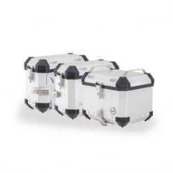 Horní  kufr 40L + boční kufry 28L hliníkové + boční nosiče pro TRK 251